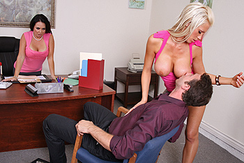 big tits at work - Big Tits R Us